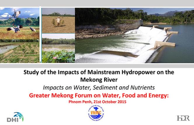 Một kết luận nguy hiểm về những con đập trên sông MeKong