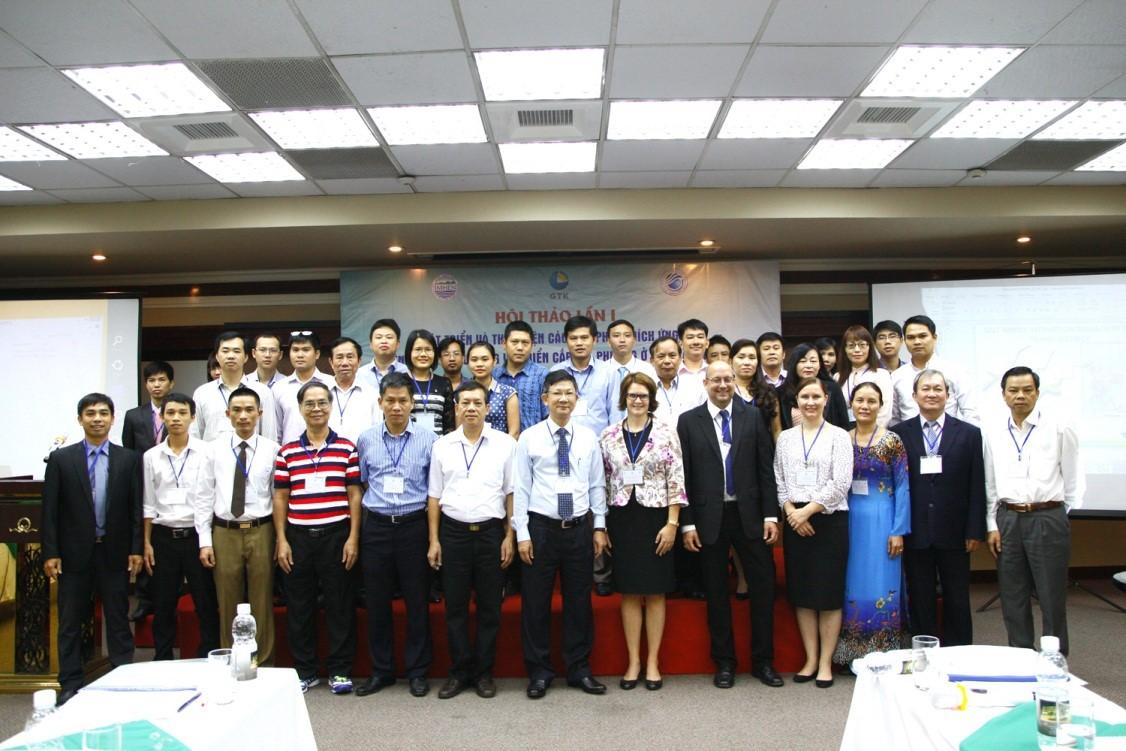 """Hội thảo tham vấn lần 1 Hợp tác nghiên cứu """"Phát triển và thực hiện các giải pháp thích ứng với biến đổi khí hậu khu vực ven biển cấp địa phương""""(VIETADAPT)"""