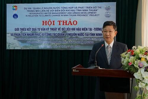 Hội thảo giới thiệu kết quả tư vấn kỹ thuật về dữ liệu khí hậu hiện tại - tương lai và phân tích nhằm phục vụ công tác quản lý nguồn nước tại tỉnh Ninh Thuận