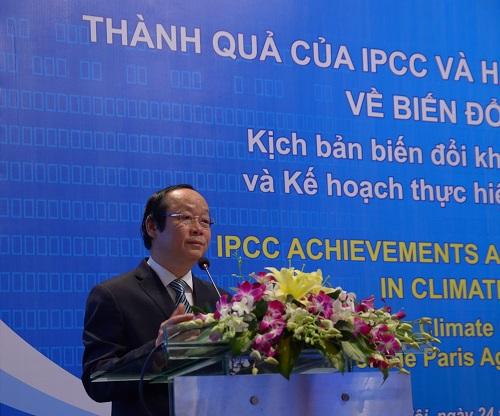 """Hội thảo: """"Những thành tựu của IPCC và các hành động của Việt Nam ứng phó với BDKH"""""""