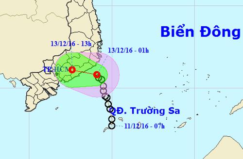 Áp thấp suy yếu, Sài Gòn sẽ mưa to