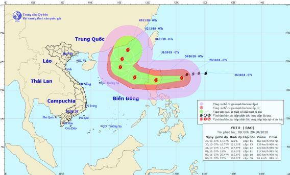 Tin mới nhất về siêu bão Yutu